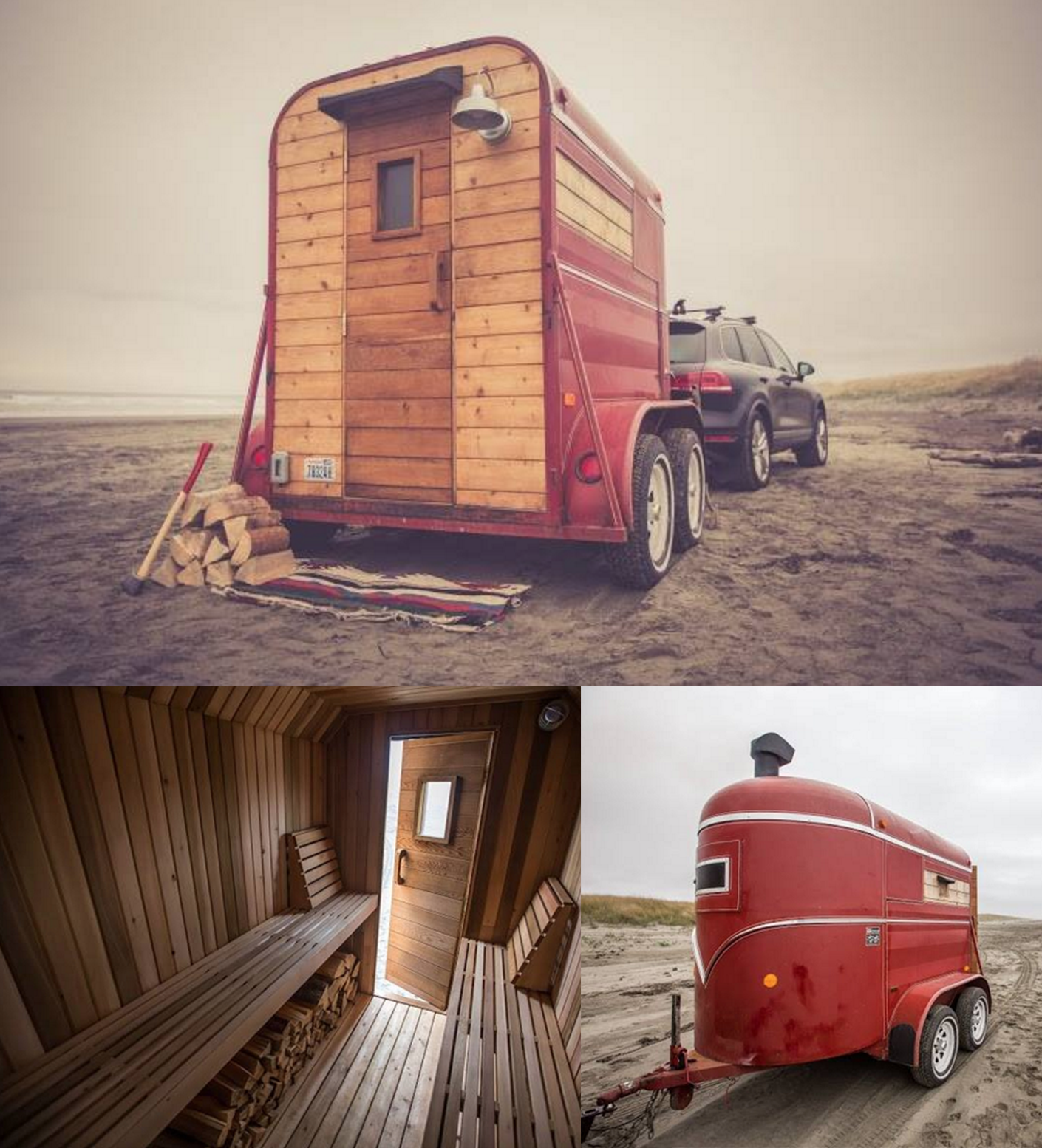 portable sauna trailer made by seattle based form shop fabrication