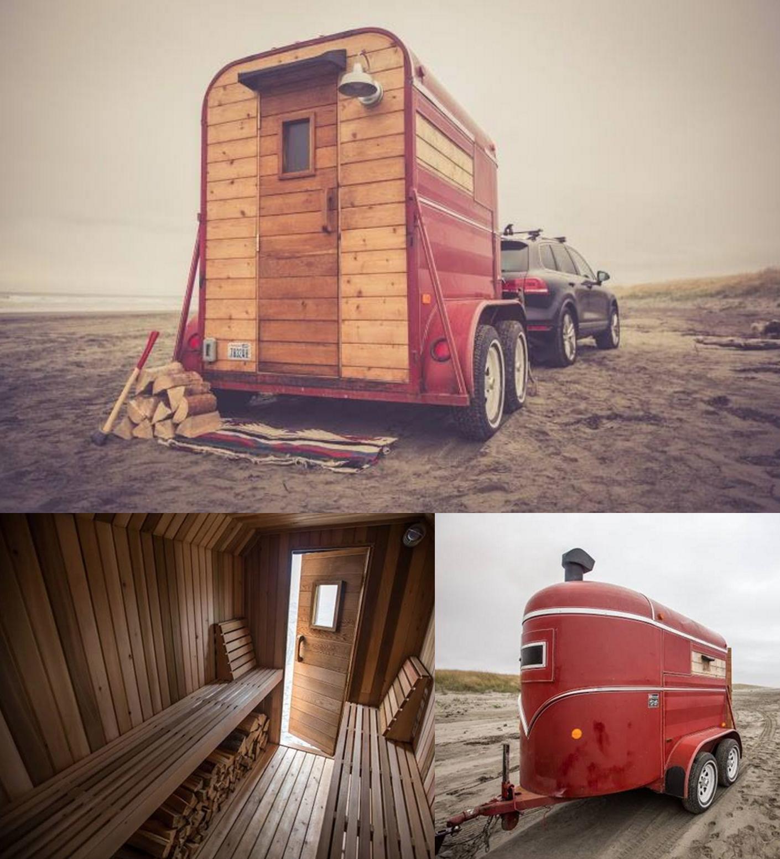 portable sauna trailer made by seattle based form shop. Black Bedroom Furniture Sets. Home Design Ideas