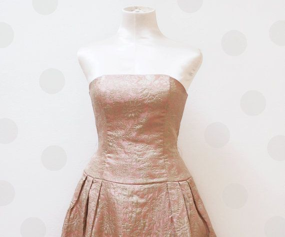 Vintage prom Dress / Jessica McClintock brocade by Skomoroki