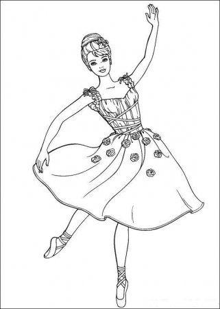 Raskraska Barbi Dance Coloring Pages Barbie Coloring Pages Princess Coloring Pages
