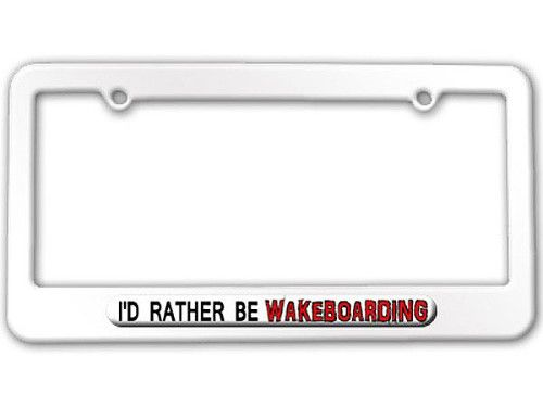 ILLINOIS I/'D RATHER BE IN License Plate Frame
