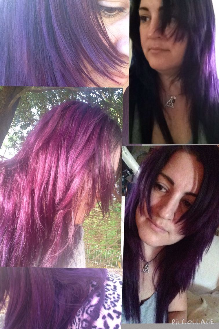 Manic Panic Purple Haze With Ultra Violet In Unbleached Hair Hair Hair Styles Hair Inspiration