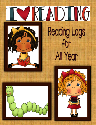 Reading Logs for All Year from Darci Gueta on TeachersNotebook.com -  (13 pages)  - I designed this unit to be simple to use and check.  It includes:  cute clip art for each month, directions, reading logs, and reading strategies.  Font Courtesy of:  www.letteringdelights.com