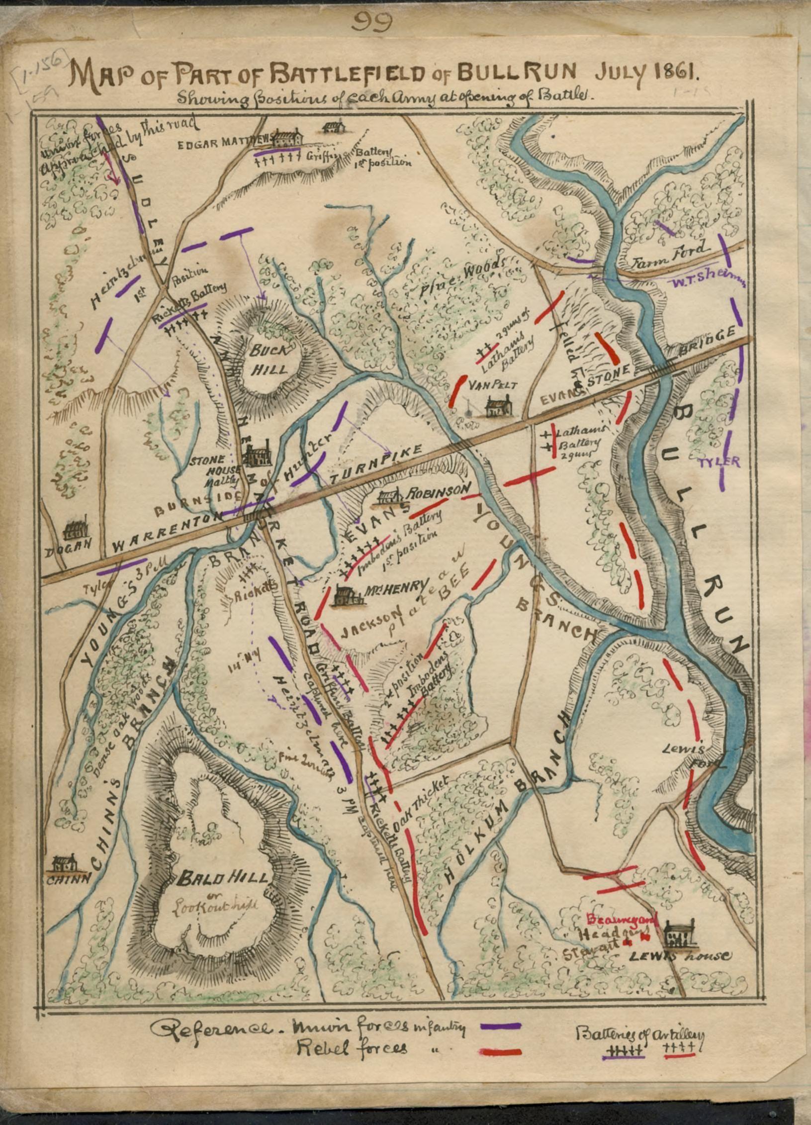 Map Of The Battle At Bull Run Bull Run Pinterest American