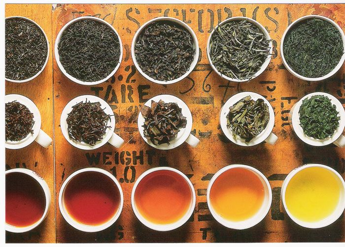 i colori del tè