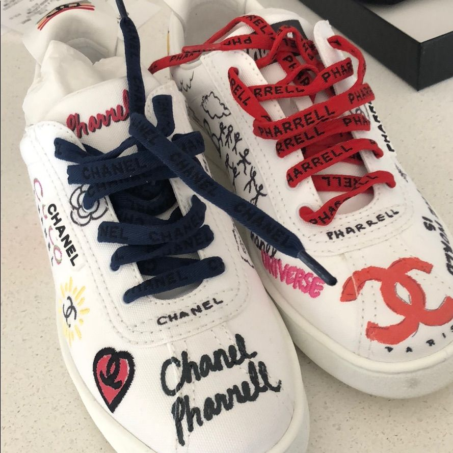 wholesale dealer 9b3da 7c2f4 CHANEL Shoes | Chanel X Pharrell Sneaker Womens Us 10 Men ...