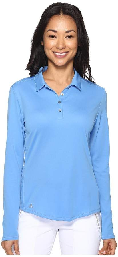 1368de0c adidas Golf - Performance Long Sleeve Polo Women's Long Sleeve Pullover  #comfortable #uvprotection #buttons