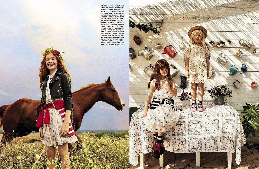 Bambini swag ~ sweet shoot by marco tassinari for vogue bambini trade fair and
