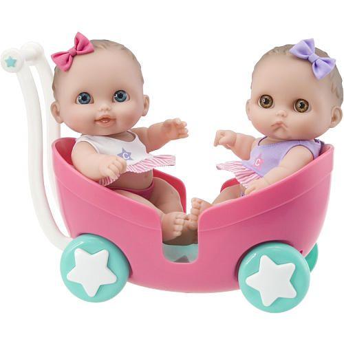 Lil Cutesies 8 5 Inch Twin Dolls In Stroller Toys R Us Twin Dolls Baby Doll Toys Stroller Toys