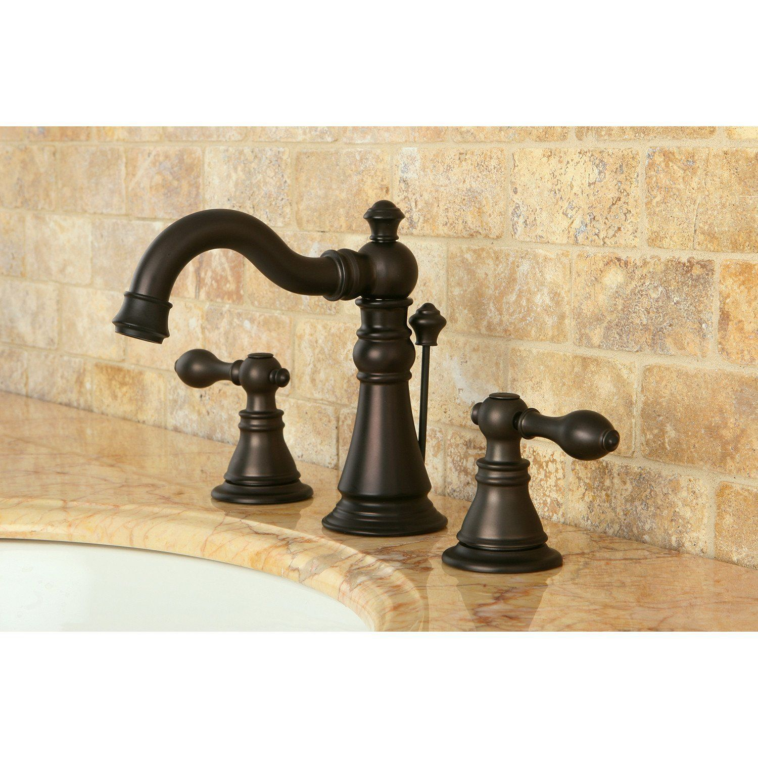 Kingston Oil Rubbed Bronze 2 Handle 8 Widespread Bathroom Faucet Fs1975acl In 2021 Bathroom Faucets Widespread Bathroom Faucet Bronze Bathroom Oil rubbed bronze widespread bathroom faucet