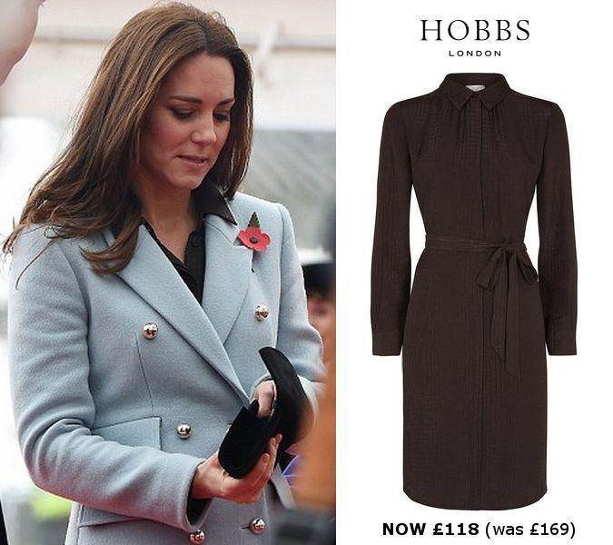 b81964b4c0 Hobbs brown animal print shirt dress