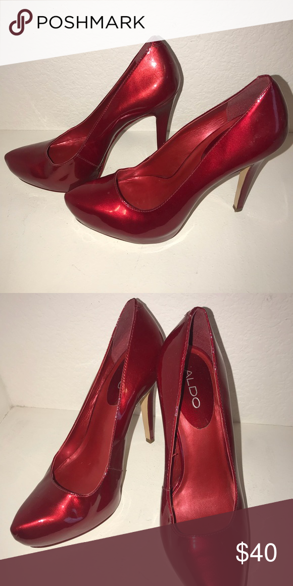 5d0966f4fe6 Aldo red pumps Also red patent leather pumps Aldo Shoes Heels