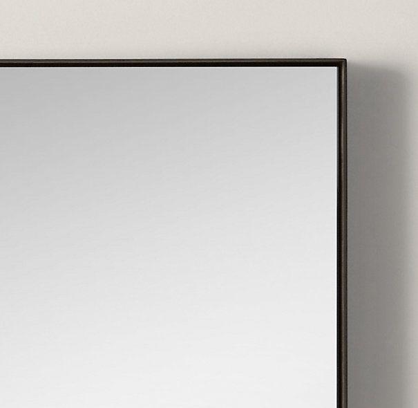 Custom Metal Mirror Floatings Remodelista Metal Mirror Metal Frame Mirror Black Mirror Frame Mirror with black frame