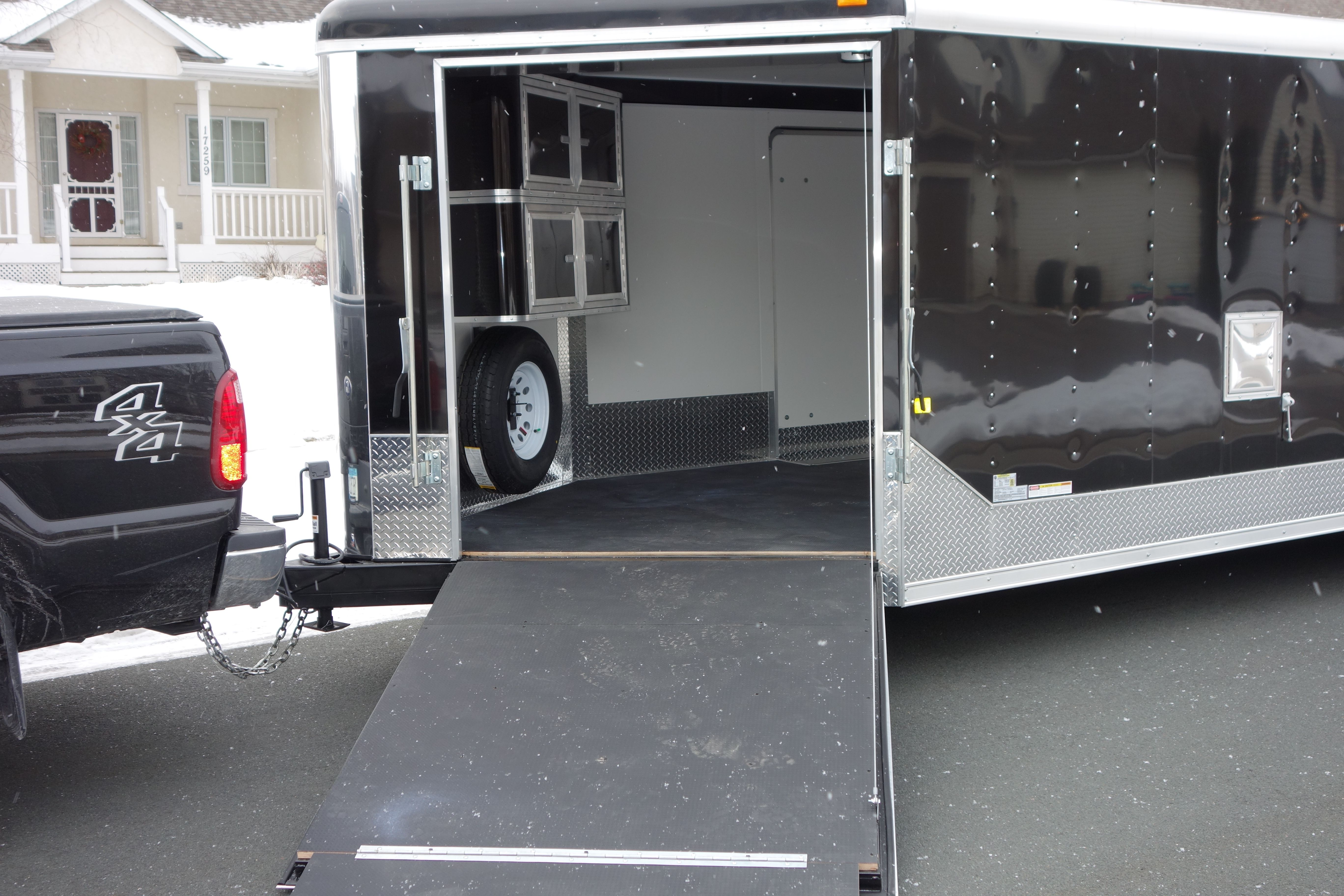 Touch Of Class Trailers U2013 Black Nudo Flooring, Twin Cabinets .