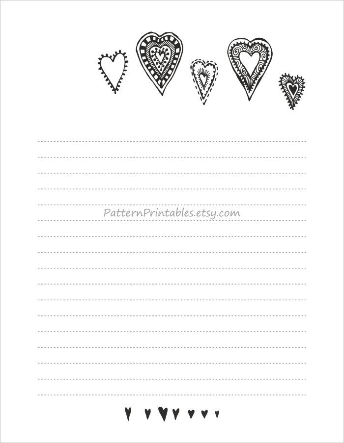 Lined Letter Writing Paper Lined Letter Writing Paper  Digital Download From Patternprintables .