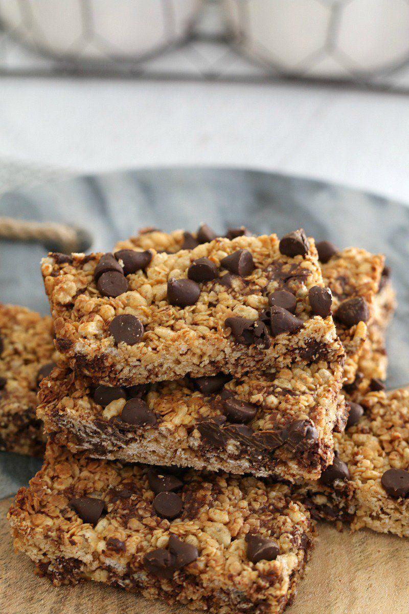 Super Easy Chocolate Chip Muesli Bars Recipe Muesli