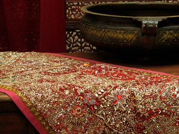 Beaded Table Runners. Great Site For Indian Tapestries And Wall Art.