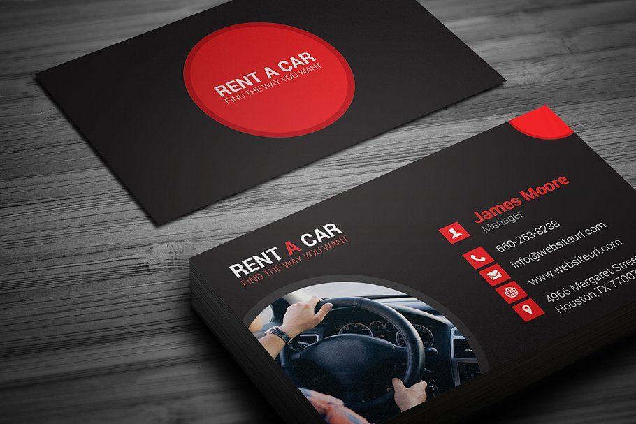 Rent A Car Business Card Car Rent Business Templates Rent A Car Business Cards Business Card Template