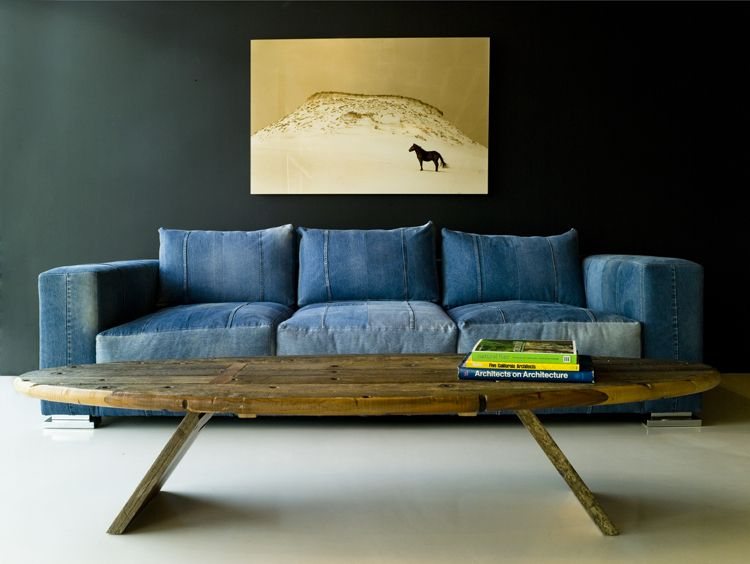 Vintage Levis 501 sofa from Environment Furniture