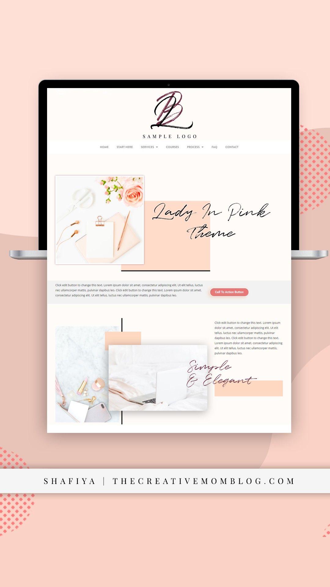 Branding Modern Wordpress Web Design For Female Entrepreneurs Web Design Blog Branding Portfolio Web Design