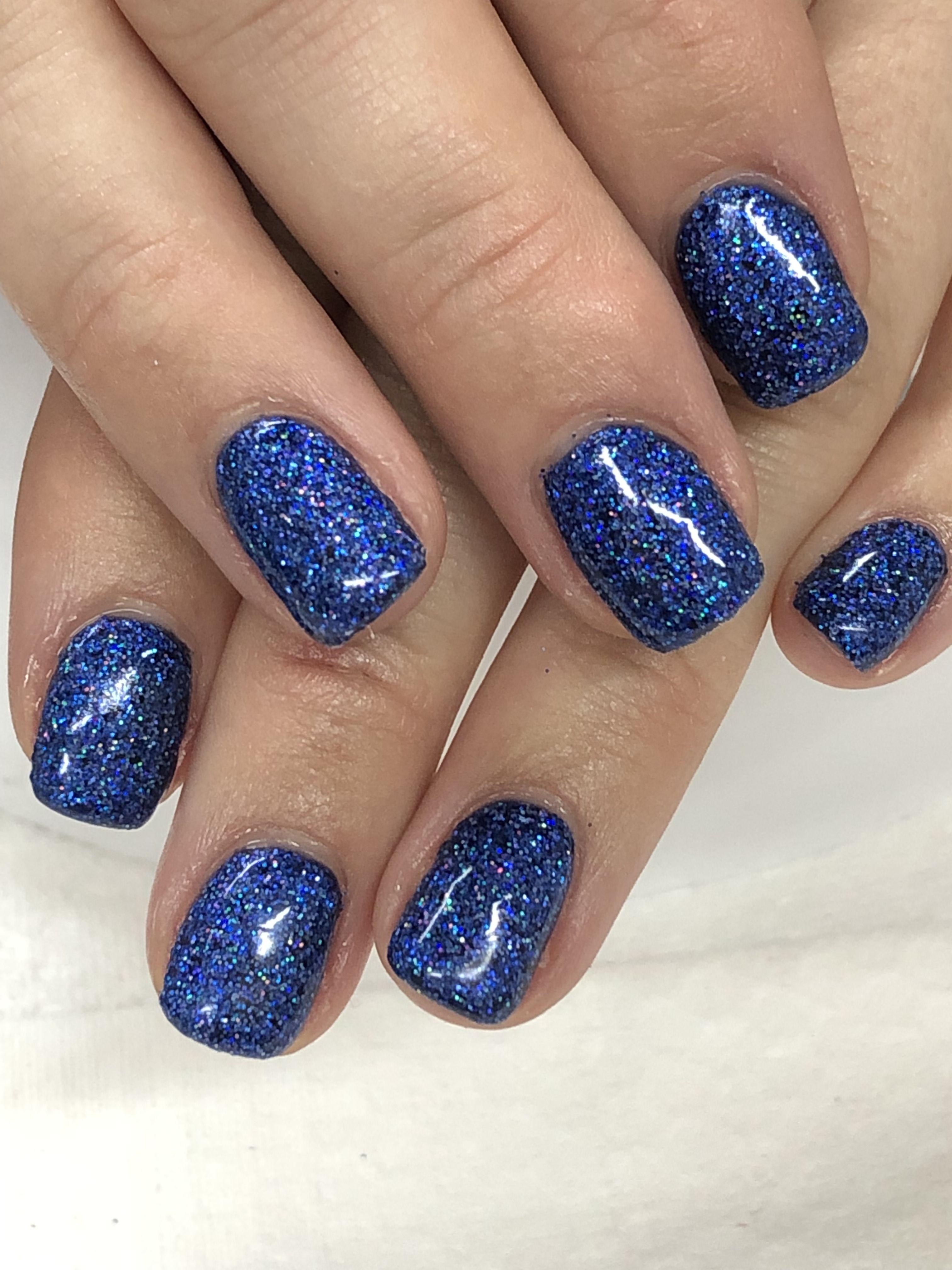 Custom Hologram Blue Glitter Gel Nails Glitter Gel Nails Glitter Gel Gel Nails