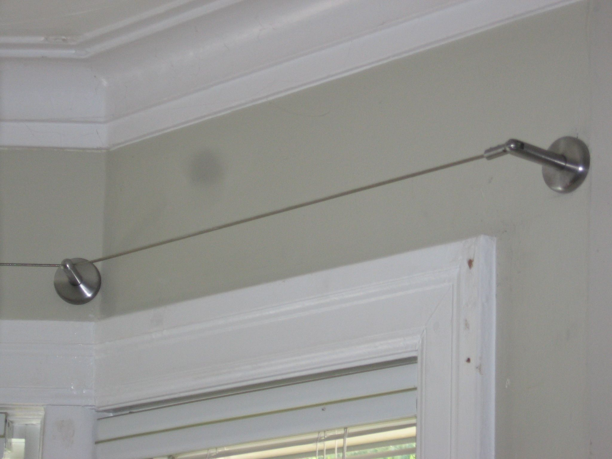 Ikea Curtain Wire Rod Hanging System Stainless Steel | Pinterest ...
