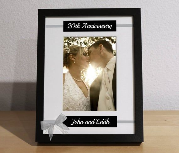 20th Anniversary Gift, 20th Wedding Anniversary, 20th Anniversary Gift for Parents, Custom Picture F #20thanniversarywedding