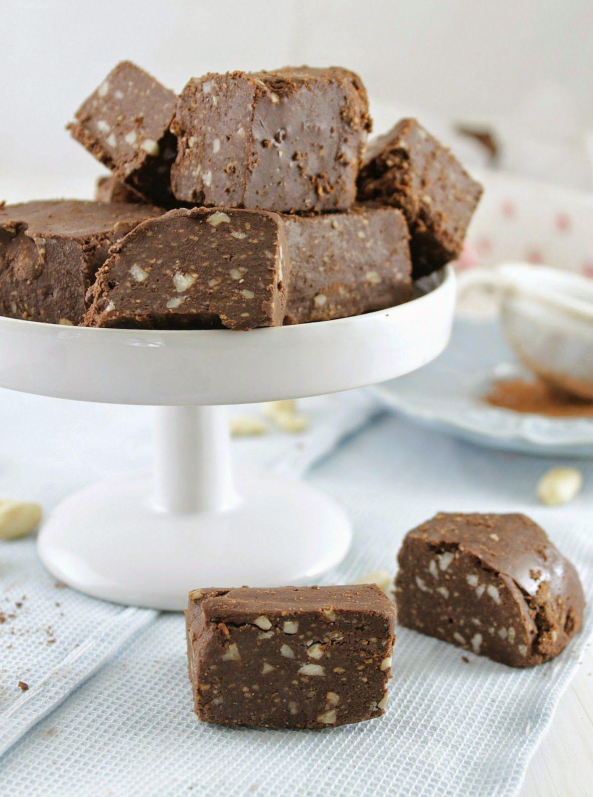 Nem acredito que é saudável!: Fudge de chocolate e amendoim (sem glúten, sem açúcar, vegan). Chocolate peanut butter fudge