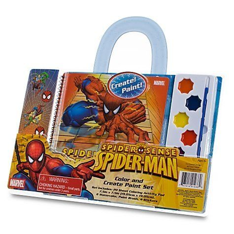 Spiderman Color Create Paint Set By Tri Coastal Design 8 95 It Includes A 20 Sheet Coloring Activity Pad 6 Wate Spiderman Art Painting Supplies Paint Set