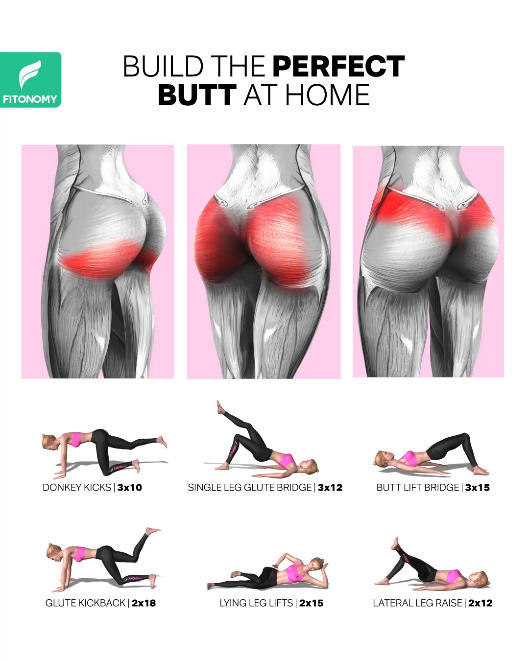 BUILD THE PERFECT BUTT AT HOME
