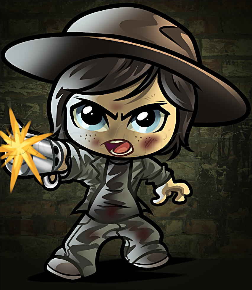 how to draw chibi carl from the walking dead Walking