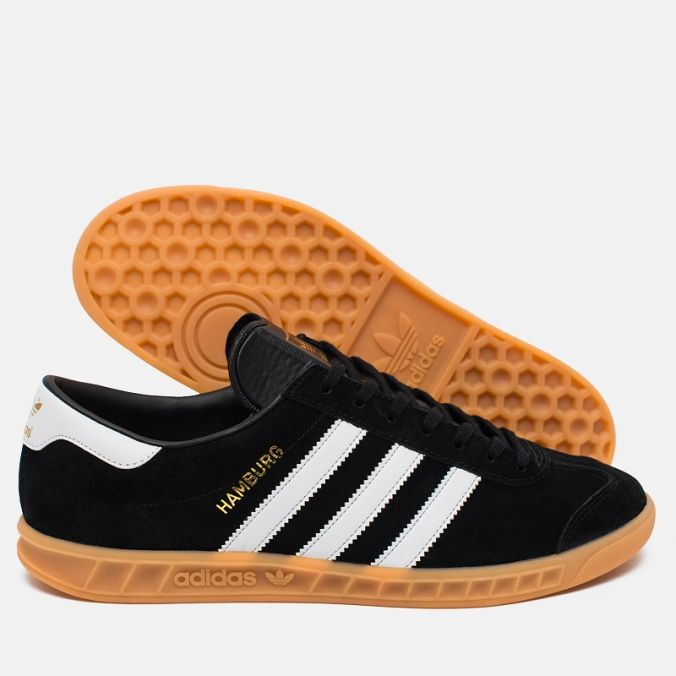 Кроссовки adidas Originals Hamburg Black/White/Gum S76696