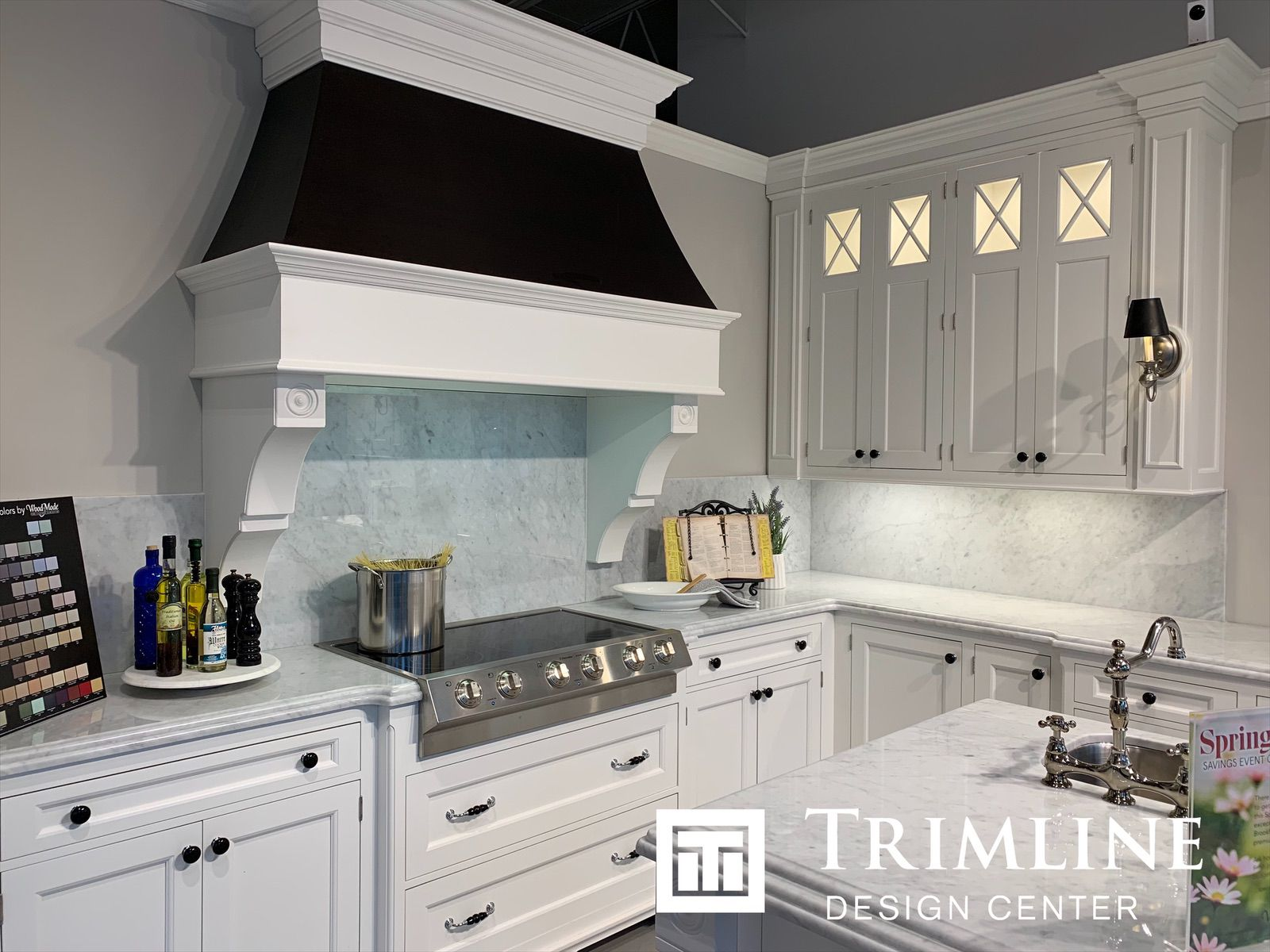 Beautiful Wood Cherry Good Compliments This All White Kitchen Kitchen Design Summer Kitchen Custom Kitchen Cabinets