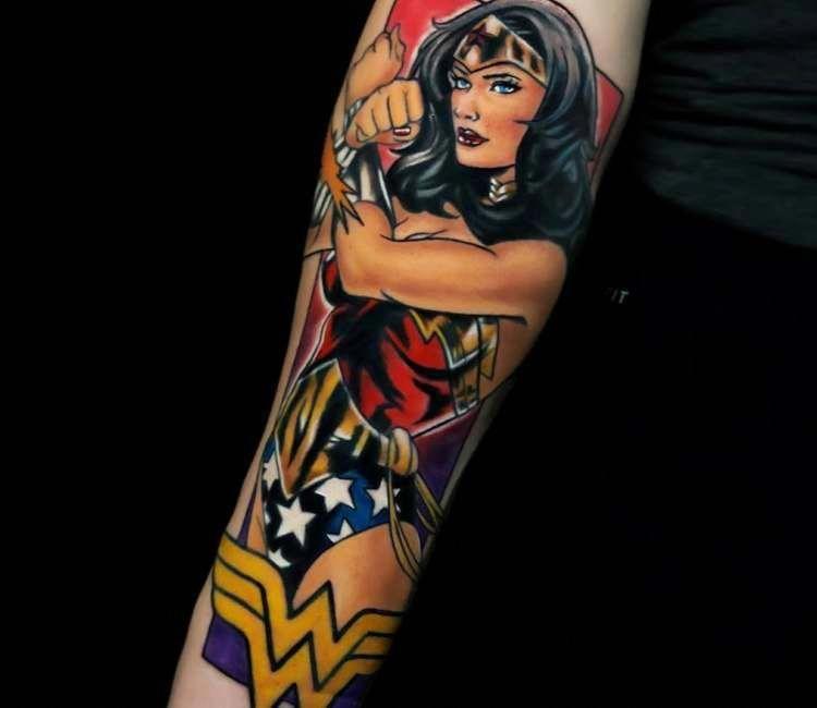 My new wonder woman tattoo sleeve feminine marvel heroes are