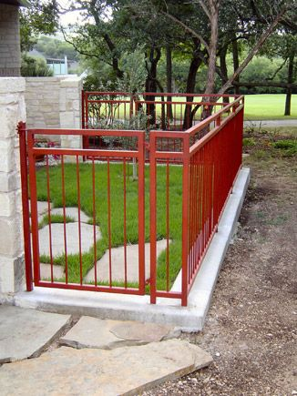Iron Fence Red Iron Fence Wrought Iron Fences Gate Design