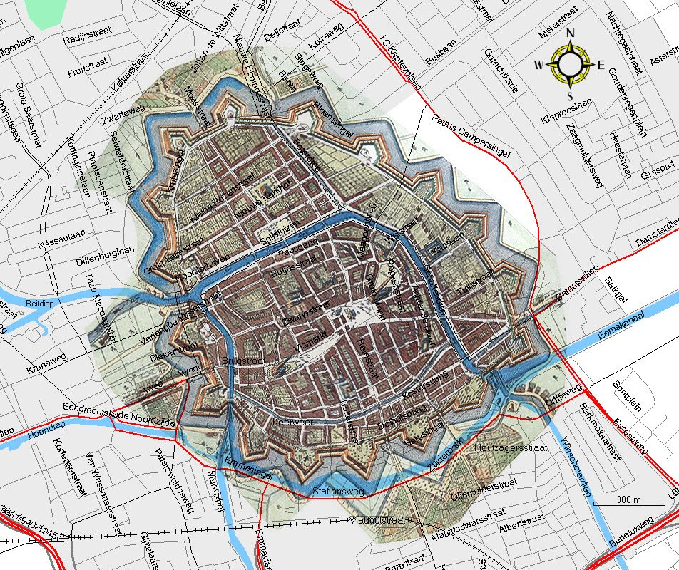 Groningen City Map 1700-1861 | Maps | Pinterest | City maps, Map and ...
