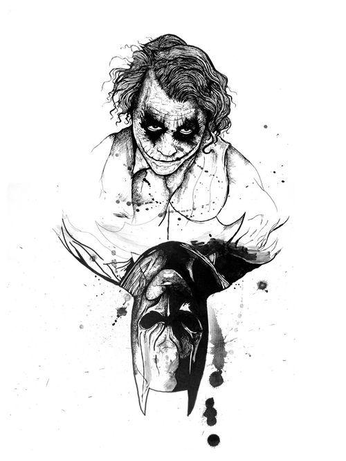 Batman Joker Classic Film Dibujos A Lápiz Joker Card