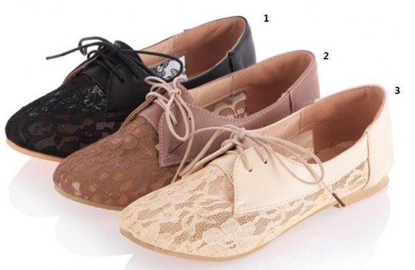 Trendy Lace Up Schoenen Ballerina's Instappers maat 31 32 33