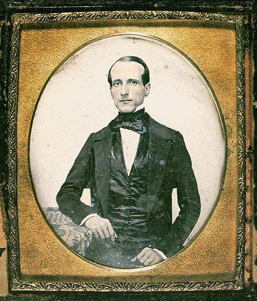 Daguerreotype of Zacarias de Góes Vasconcelos, brazilian politician, 1850.