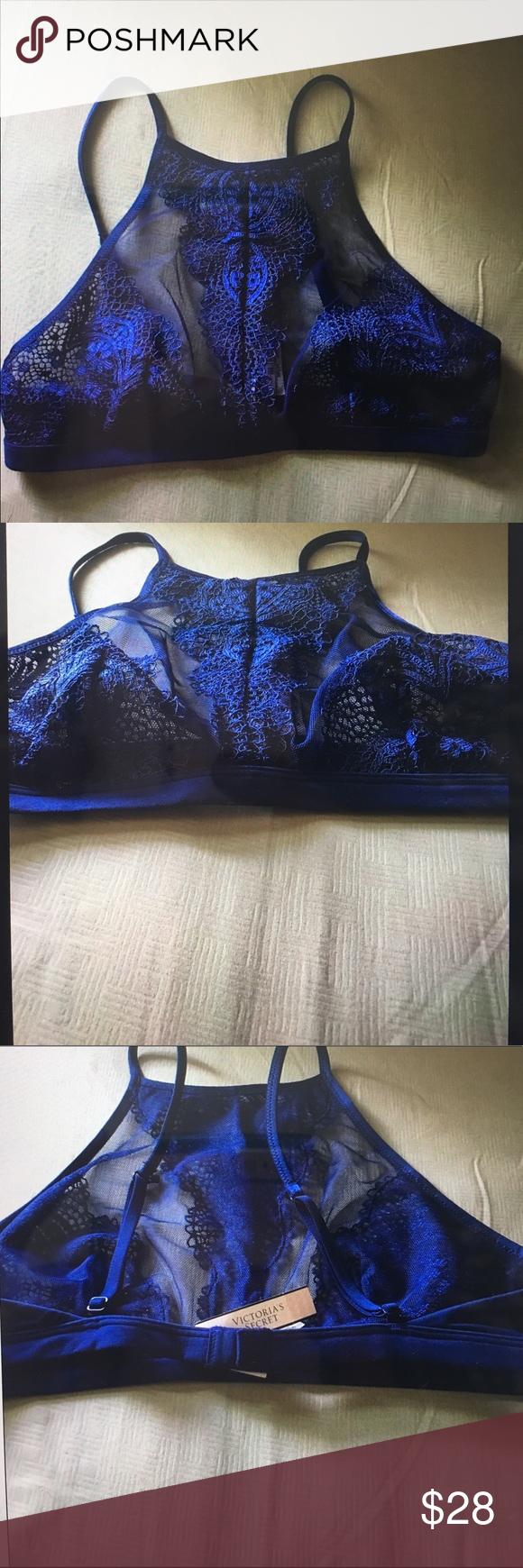 Victoria's Secret Lace Halter Bralette Brand new-- never used-- includes tags Victoria's Secret Tops