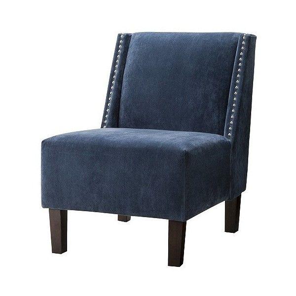 Skyline Armless: Upholstered Chair: Hayden Armless Chair   Blue Velvet... (