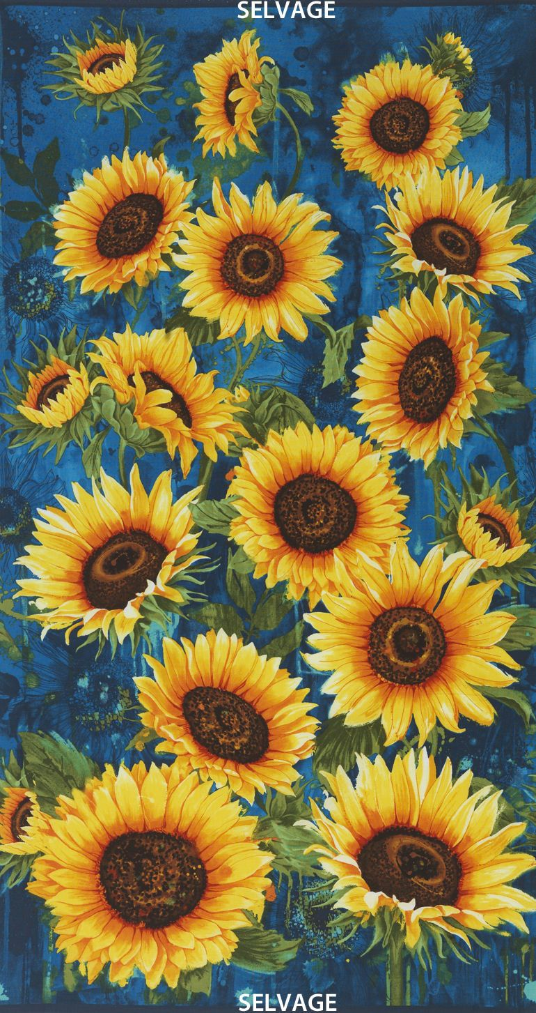 Timeless Treasures Large Scale Sunflowers 100 Cotton