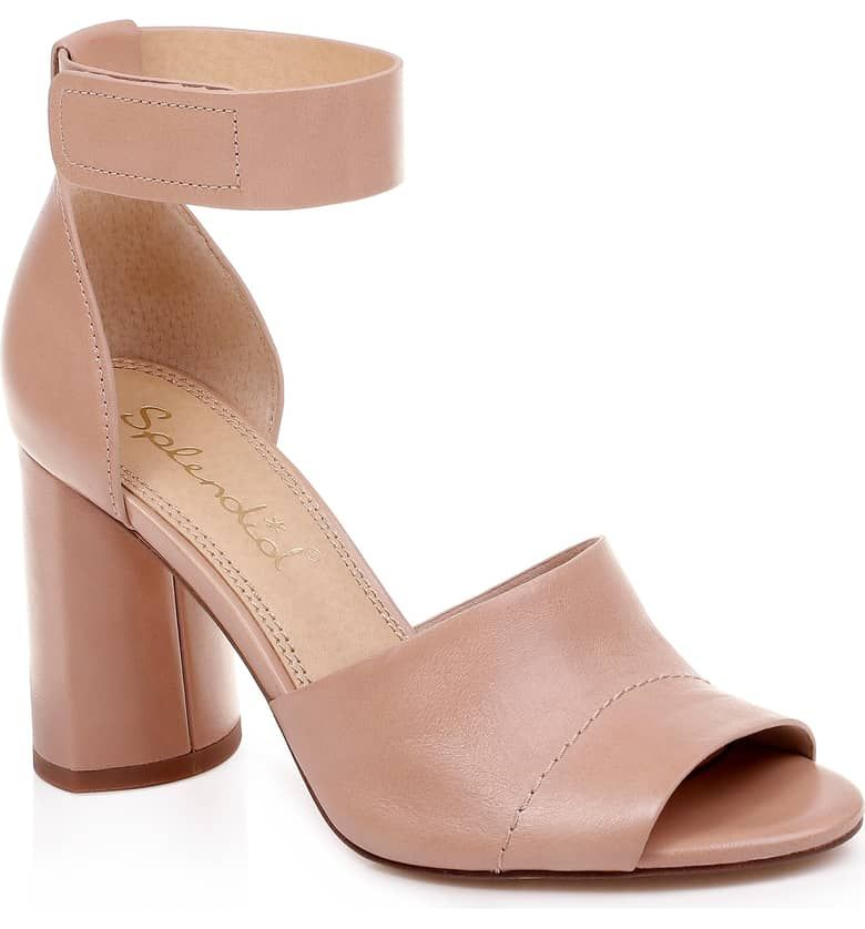 Nude Embellished Block Heel Sandals | CHARLES & KEITH EU