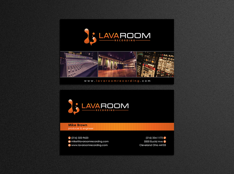 Lava room recording business card by designc logos design lava room recording business card by designc colourmoves Image collections