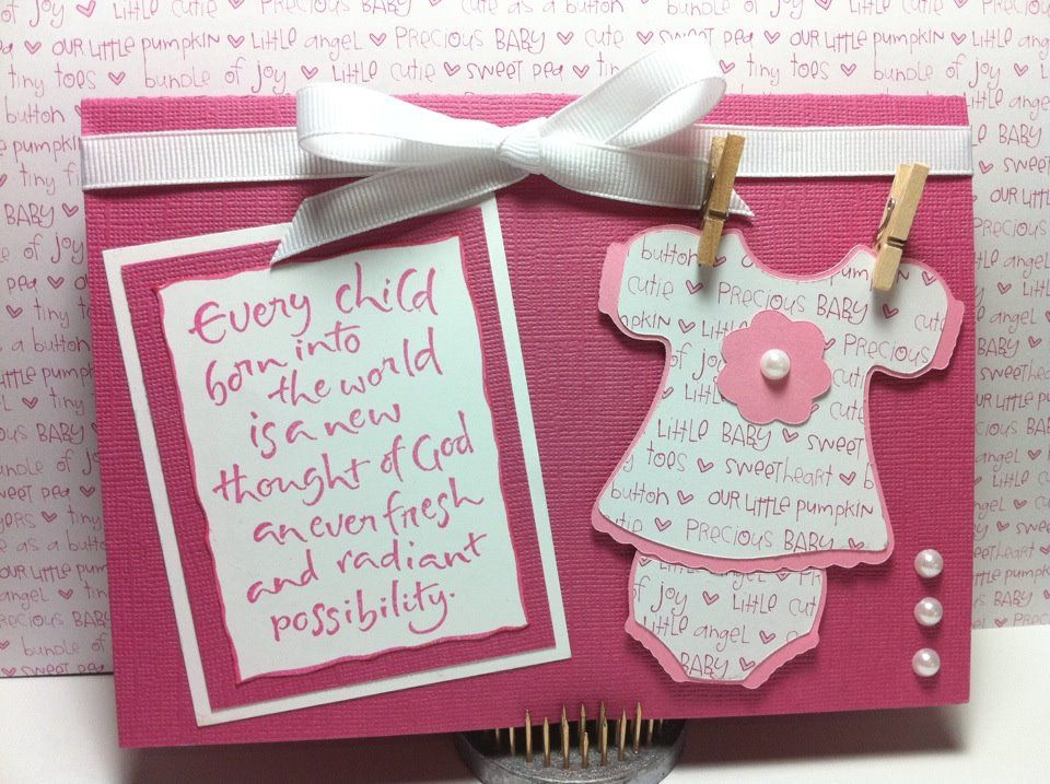 Pin on Baby cards