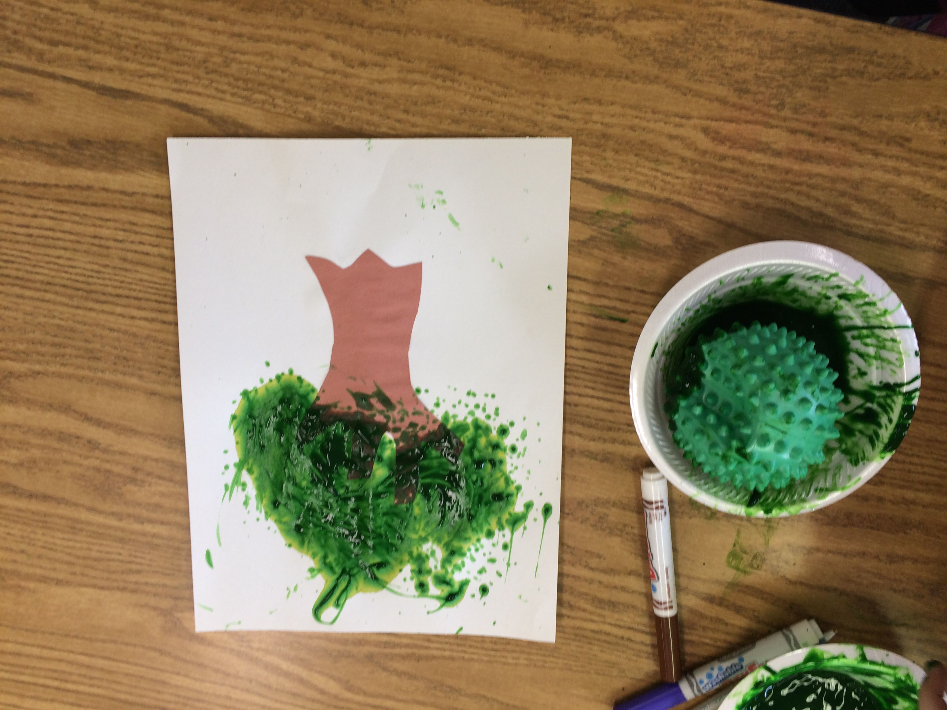 Tree Painting With Fidget Ball