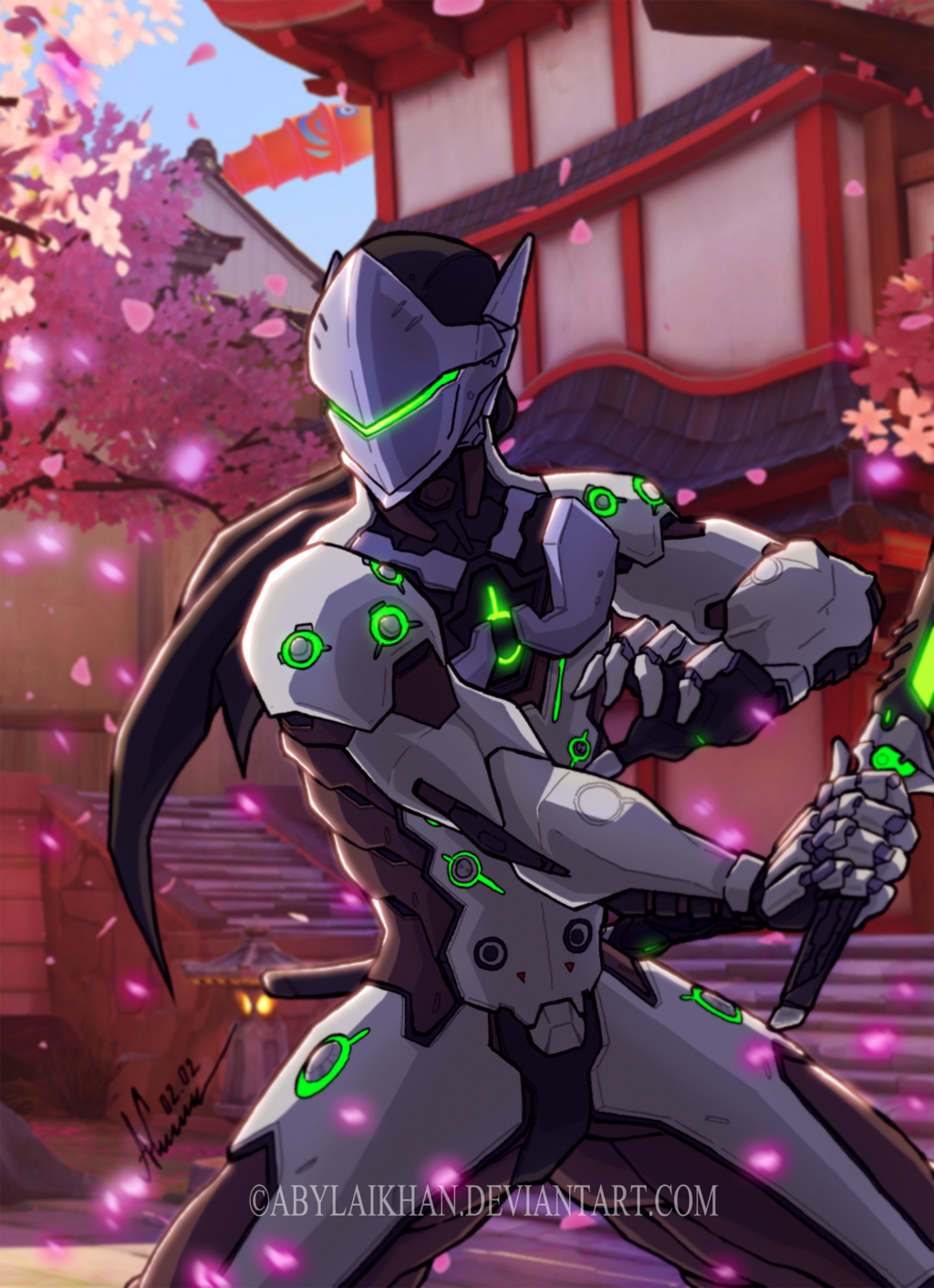 GenjiOverwatch (color) by Abylaikhan on DeviantArt for