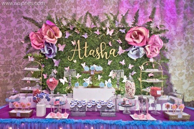 Atasha S Enchanted Garden Themed Party 1st Birthday Garden Party Birthday Garden Theme Birthday Butterfly Garden Party