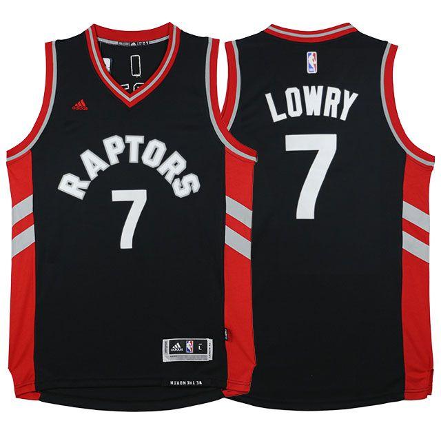 9cab4198a Raptors  7 Kyle Lowry Away Alternate Black New Jersey