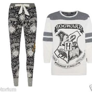 new primark harry potter howarts womens ladies pyjamas leggings t shirt uk 6 20 clothes. Black Bedroom Furniture Sets. Home Design Ideas